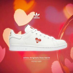Détails sur Adidas Originals Femme Stan Smith W Vday saint valentin blanc cœur rouge G27893- afficher le titre d'origine