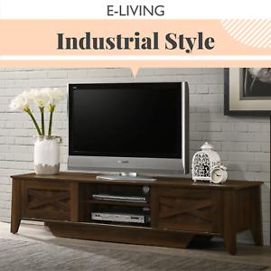 Details About Tv Stand Entertainment Unit 180cm Style Cabinet Sliding Dark Wood