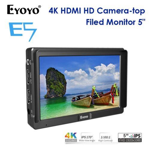 """Eyoyo 5/"""" FHD Slim en la cámara de vídeo campo IPS HDMI 4K DSLR Zhiyun para Canon Nikon"""