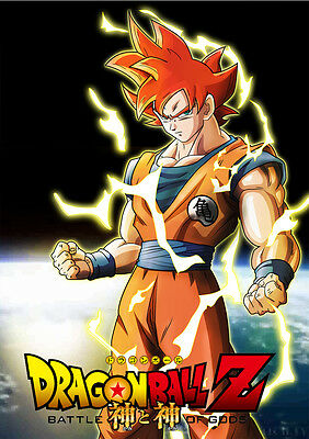 SANGOKU SONGOKU SUPER SAYAN WARRIOR DBZ A4 STICKER POSTER MANGA DRAGON BALL Z
