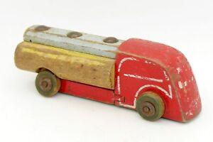jouet ancien en bois camion citerne type renault lego denmark wood ebay. Black Bedroom Furniture Sets. Home Design Ideas