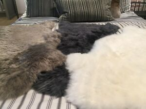 Genuine-New-Zealand-Sheepskin-Super-Soft-2x3-rug-White-Black-Grey-Brown