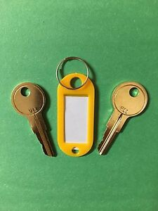 2 HON File Cabinet Keys 151E-200E  With Key Tag Keys Cut To Your Code