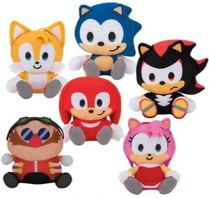 Sonic-the-Hedgehog-Characters-Amy-Knuckles-Tails-Shadow-Dr-Eggman-9-034-Plush-Doll