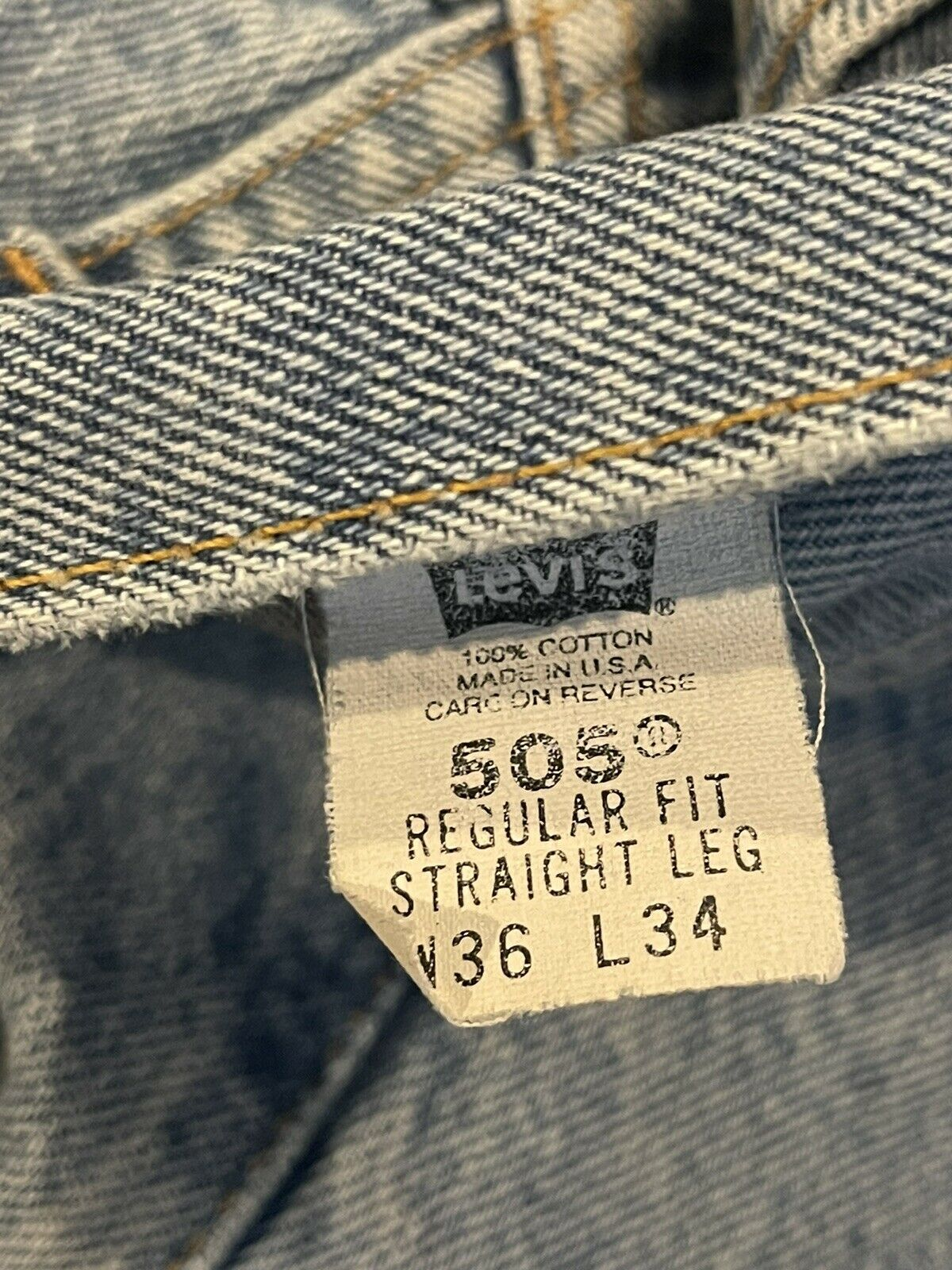 vintage levis 505 made in usa 36x34 - image 4