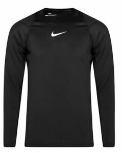 Nike-Pro-Aeroadapt-Mens-Shirt-Black-Size-XXl-2XL-Training-Compression-Top-L118