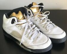 90a60ee59b31 item 3 Nike Air Jordan 5 Retro GS Olympic Gold Coin White Black 440888-133  Size 7Y -Nike Air Jordan 5 Retro GS Olympic Gold Coin White Black 440888-133  Size ...