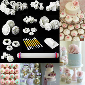Sugarcraft Cake Decorating And Baking Show : 46PCS SUGARCRAFT CAKE CUPCAKE DECORATING FONDANT ICING ...