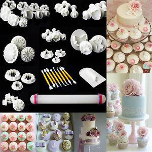 Sugarcraft Cake Decorating And Baking Show : 46PCS SUGARCRAFT CAKE CUPCAKE DECORATING FONDANT ICING ...