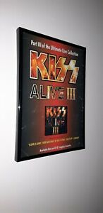 KISS-framed-original-press-release-promo-poster
