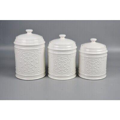 Bonbonni/ère SHABBY CHIC Bo/îte de rangement caf/é Porcelaine Blanc 15 cm cbr1117007