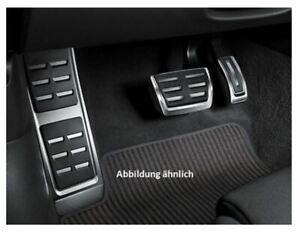 Audi-A6-A7-4K-Fussstuetze-amp-Pedalkappen-in-Edelstahl-Automatik-4K1064205A