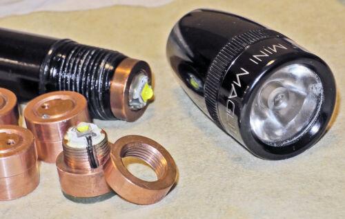 Custom OFC Heatsink for Maglite 2AA LED Mods Incandescent