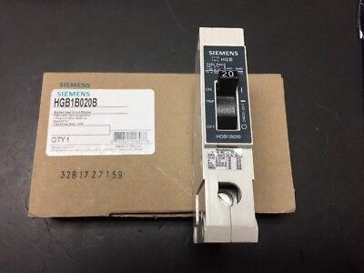New in Box Siemens HGB 20A 277V 1 Pole Breaker Catalog # HGB1B020B
