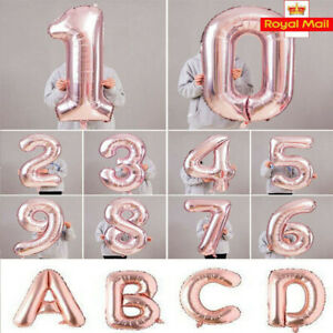40-034-Giant-Foil-Number-Rose-Gold-Helium-Large-Baloon-Birthday-Party-Wedding-decor