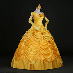 2017 Halloween Beast Belle Princess Yellow Beauty Classic ...
