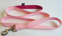 1.5m LONG DOG LEAD BABY PINK WITH FUSHIA PINK DOUBLE WEBB HANDLE]