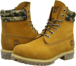 BNIB-Genuine-Timberland-Premium-Puffer-6-Inch-Boot-Wheat-Nubuck-Camo-UK-14-Us-15