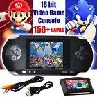 16 bit Handheld Console Portable Video Game 150 Games Retro Megadrive PXP New UK