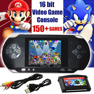 Pxp3 Game Console Handheld Portable 16 Bit Retro Video 150