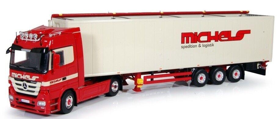 TEK61735 - Camion 4x2 MERCEDES ACTROS LH MP3 et remorque 3 essieux Cargo Floor a