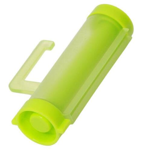 Plastic Rolling Squeezer Toothpaste Dispenser Tube Home Hanging Holder Sucker Q