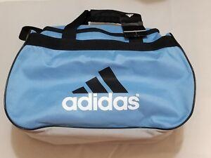 8d44a40f2886 Adidas Diablo Small Duffle Bag NEW Gym Light Blue Gray Black 322239 ...
