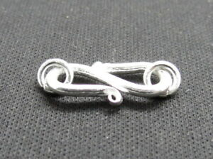 2-Pieces-925-Sterling-Silver-Clasps-Hook-Bali-Silver-S-Clasp-Hooks-18mm-Long