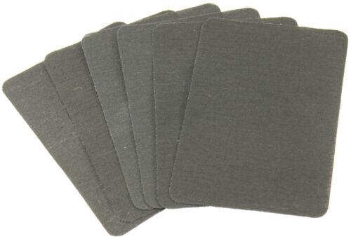 Aufbügler NERO 4 x patch jeans rappezzi ricamate riparazione rappezzi pezze 661