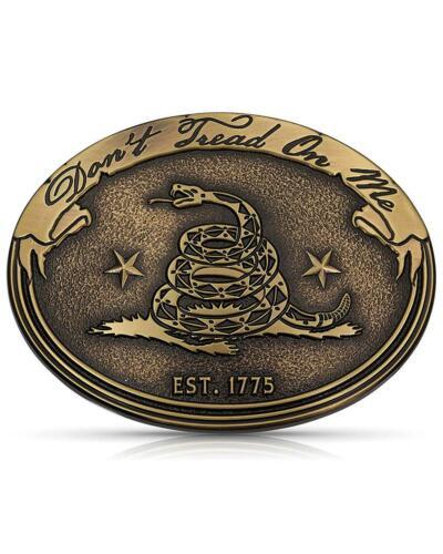 Montana Silversmiths Men/'s Don/'e Tread On Me Gadsden Buckle Gold