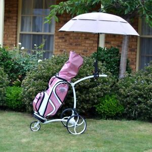 3-Pack-Double-Canopy-Golf-Buggy-Umbrella-Solar-UV-15cm-Long-Handle
