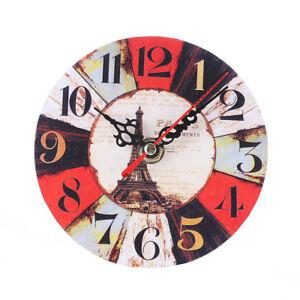 Das Bild Wird Geladen Klein Rund Vintage Stil Wanduhr 034 Paris 034
