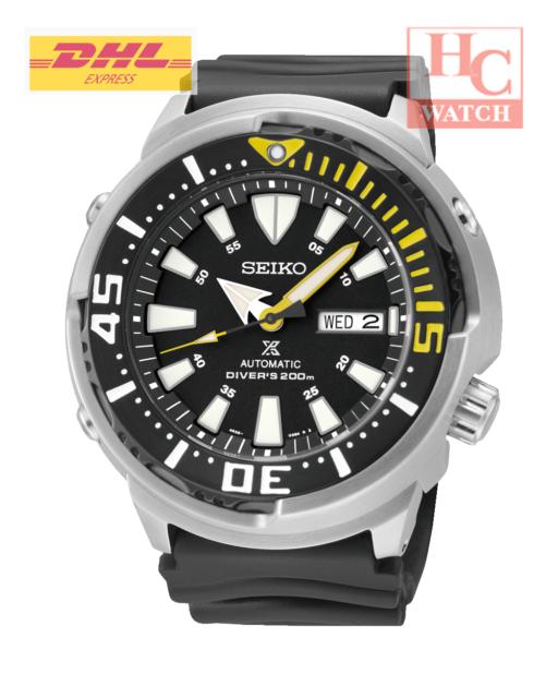 """New Seiko Prospex SRP639K1 """"Baby Tuna"""" Automatic Diver's 200M Black Silicone"""