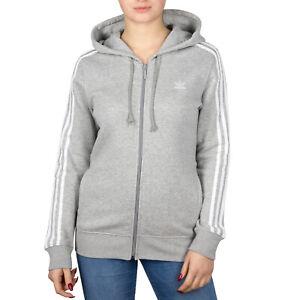 Details zu Adidas Originals 3 Streifen Damen Adicolor Trefoil Jacke Sweatjacke Pulli DN8155