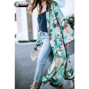 Women-Long-Maxi-Cardigan-Kimono-Casual-Loose-Shawl-Open-Front-Trench-Coat-Jacket
