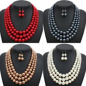 011f3aa9d New Style Multi Strand Bead Jewelry Earrings Chain Chunky Layered ...