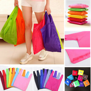 a987398b9e9d Details about Foldable Shopping Bag Reusable Grocery Storage Handbag  Vegetable Tote Folding