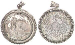 1901 Empire Patriotic Pendant From 2 Mark Wilhelm II 45368
