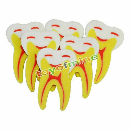 3PCS Tooth Stil Gummi Bleistift Radiergummi Büro-Briefpapier-Geschenk-Spielzeug
