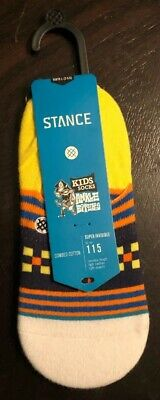Stance Boys Socks Super Invisible Combed Cotton Large 2-5.5 Black Dripper