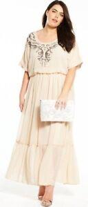 BNWT-V-by-Very-Curve-Embellished-Top-Chiffon-Maxi-Dress-UK-22-RRP-80