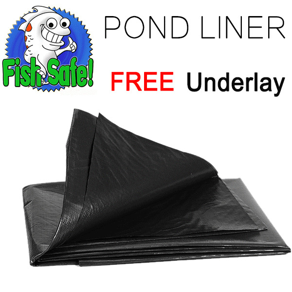 Heavy Duty Garden Pool Pond Liner Lining All Sizes 45 Years Guarantee