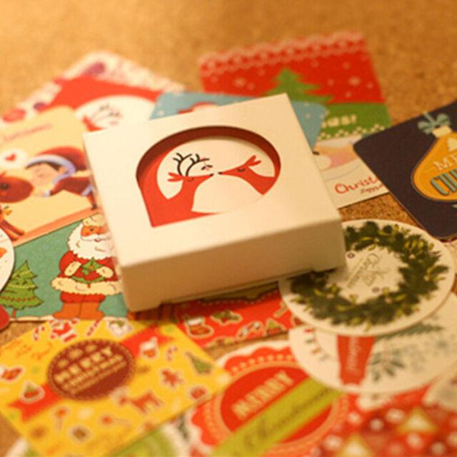 1box 38 PCS Diary Decor Envelope Sealing Holiday Gift Merry Christmas Sticker AT
