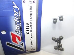 K-Factory-K1338-Mugen-Seiki-Mtx-3-Hard-Allume-filettato-FLANGIATO-Ball-8pcs