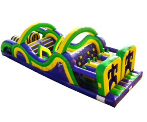 50x12x15 Commercial Inflatable Obstacle Course Ninja Slide ...