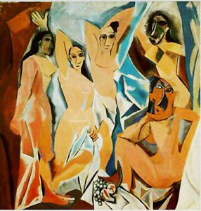 DIPINTO-OLIO-SU-TELA-Picasso-Les-demoiselless-d-039-Avignon-DIPINTO-A-MANO