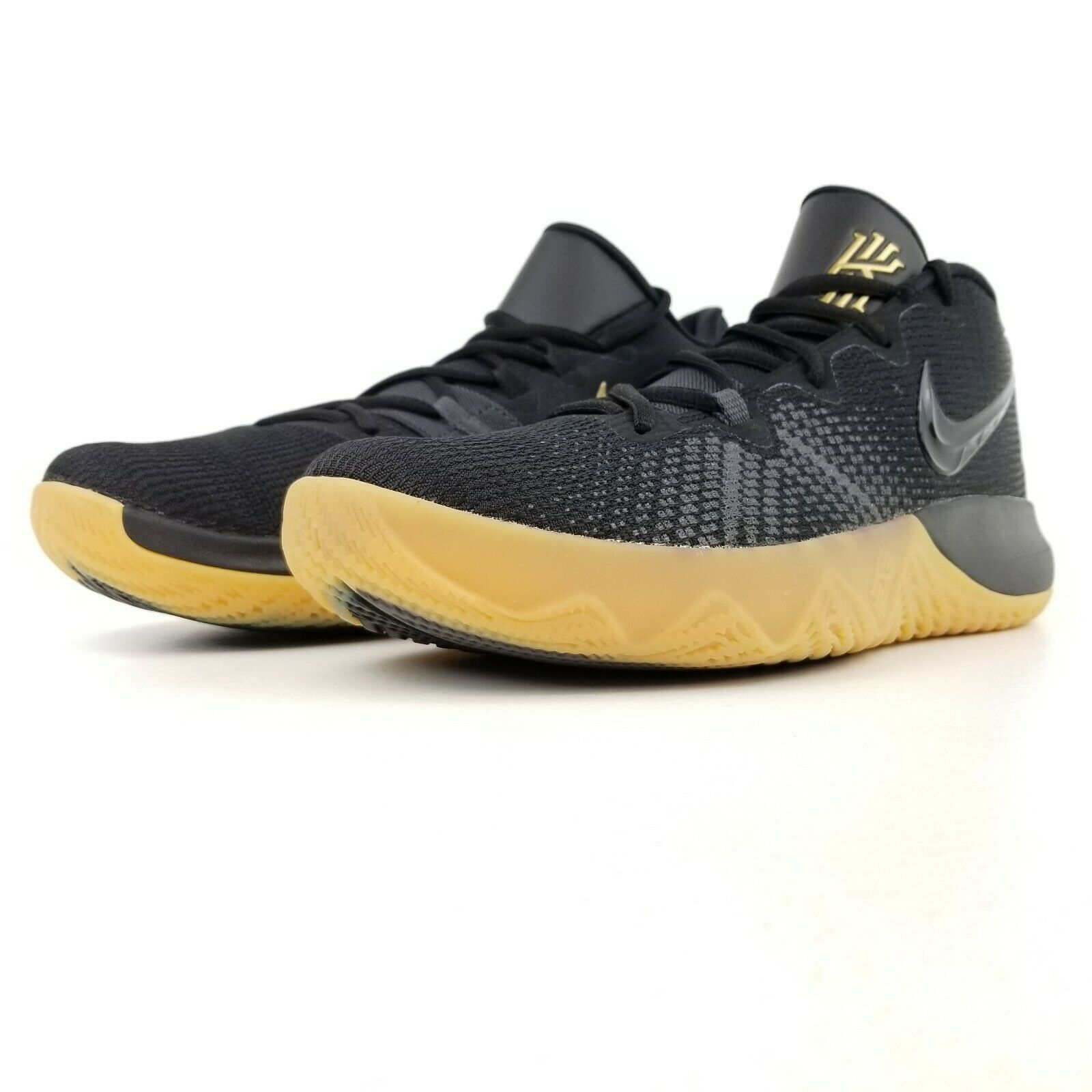 sneakers for cheap a67f9 7128f Nike Kyrie Irving Flytrap Mens Basketball Shoes Black Gold AA7071 009 Sizes  9-12
