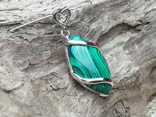 Edelstein remolque capturados malaquita verde elipse cabochon cadenas joyas de plata