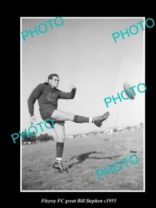 OLD-8x6-HISTORICAL-PHOTO-OF-FITZROY-FC-GREAT-BILL-STEPHEN-c1955