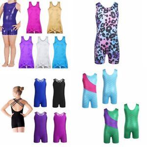 Girls-Child-Kids-Ballet-Dance-Leotard-Gymnastics-Bodysuit-Dancewear-Clothes